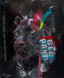 Black Panther III by Zinsky - Original Painting on Stretched Canvas sized 32x39 inches. Available from Whitewall Galleries